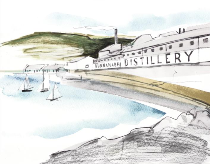 Bunnahabhain Distillery by Fran Waddell