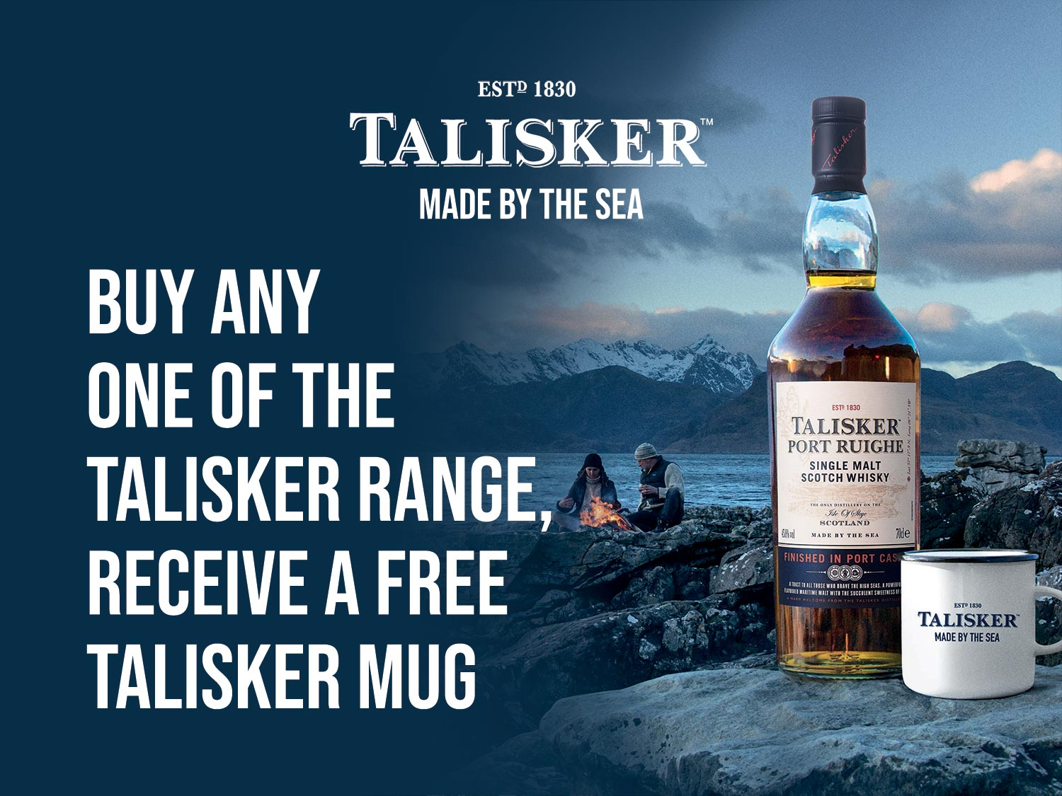 Buy any of the Talisker range and receive a free Talisker mug.