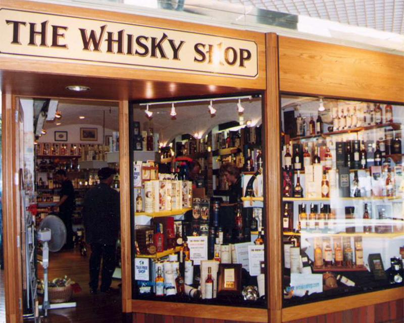 The first branch of The Whisky Shop – Edinburgh's Princes Mall, 1993
