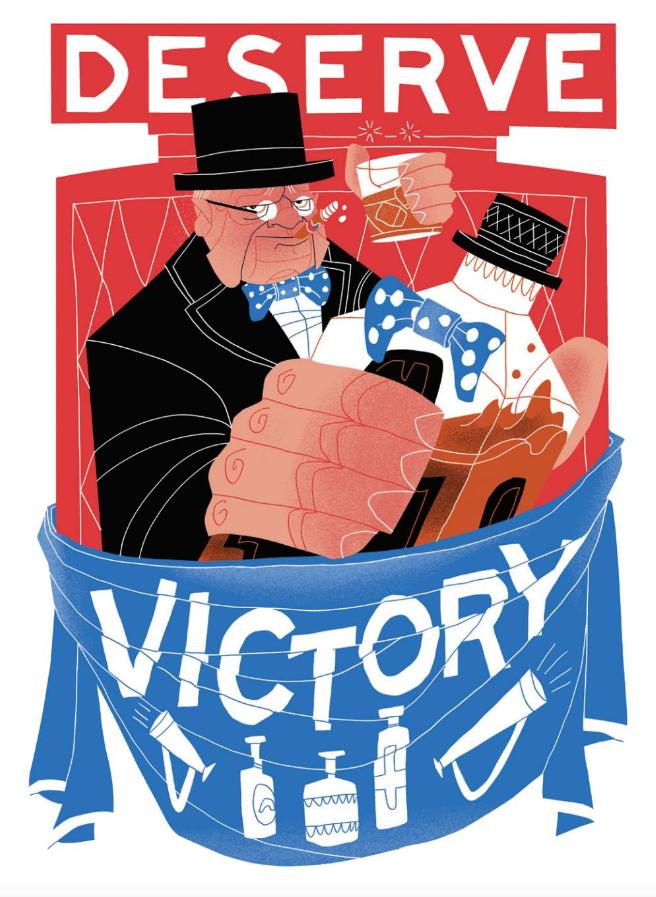 Winston Churchill Whiskeria Illustration