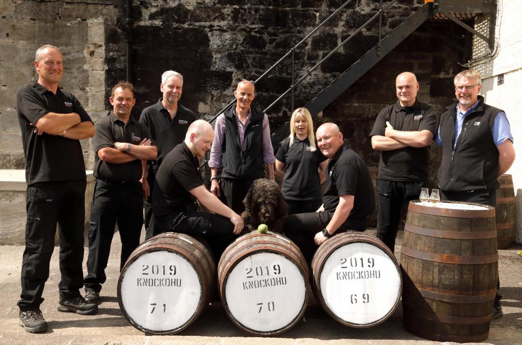 The team at Knockdhu Distillery