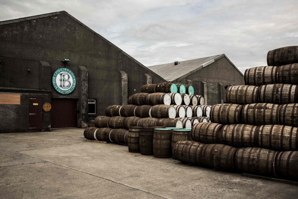 Bruichladdich Distillery based on Islay