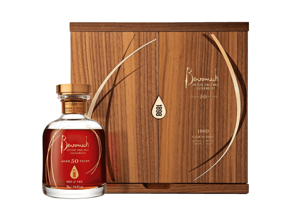 Benromach 50 year old whisky
