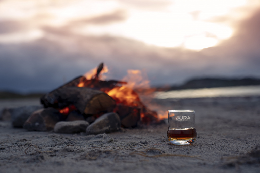 Campfire on the isle of Jura