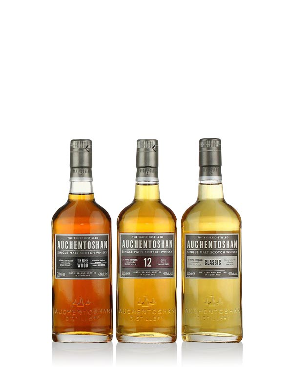 Auchentoshan Gift Pack 3 x 20cl Lowland Single Malt Scotch Whisky 3x20cl