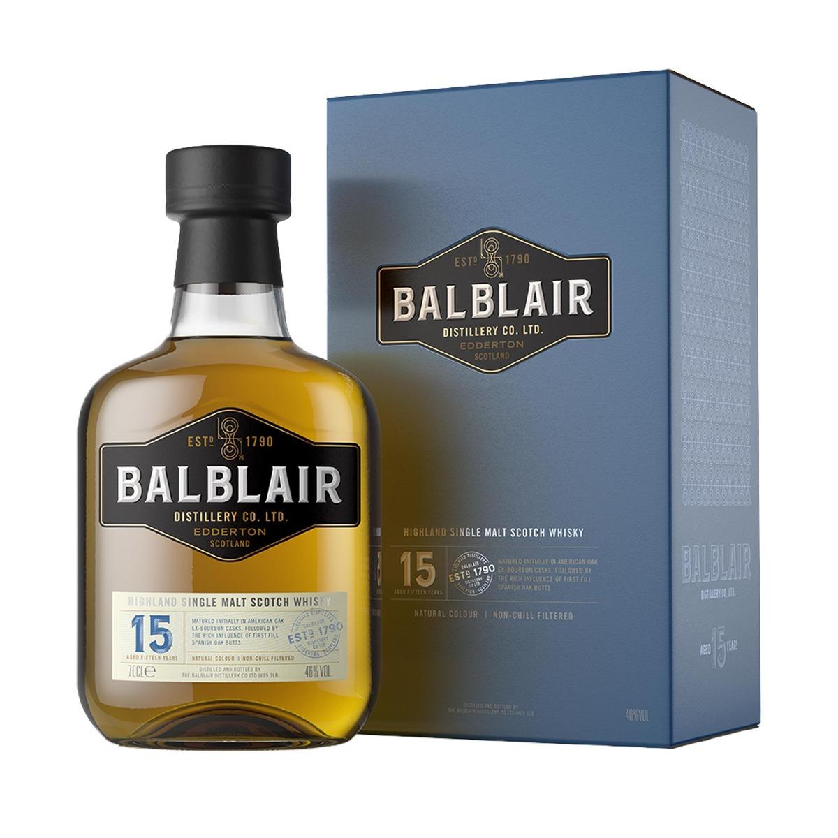 Balblair 15 Year Old Highland Single Malt Scotch Whisky 70cl