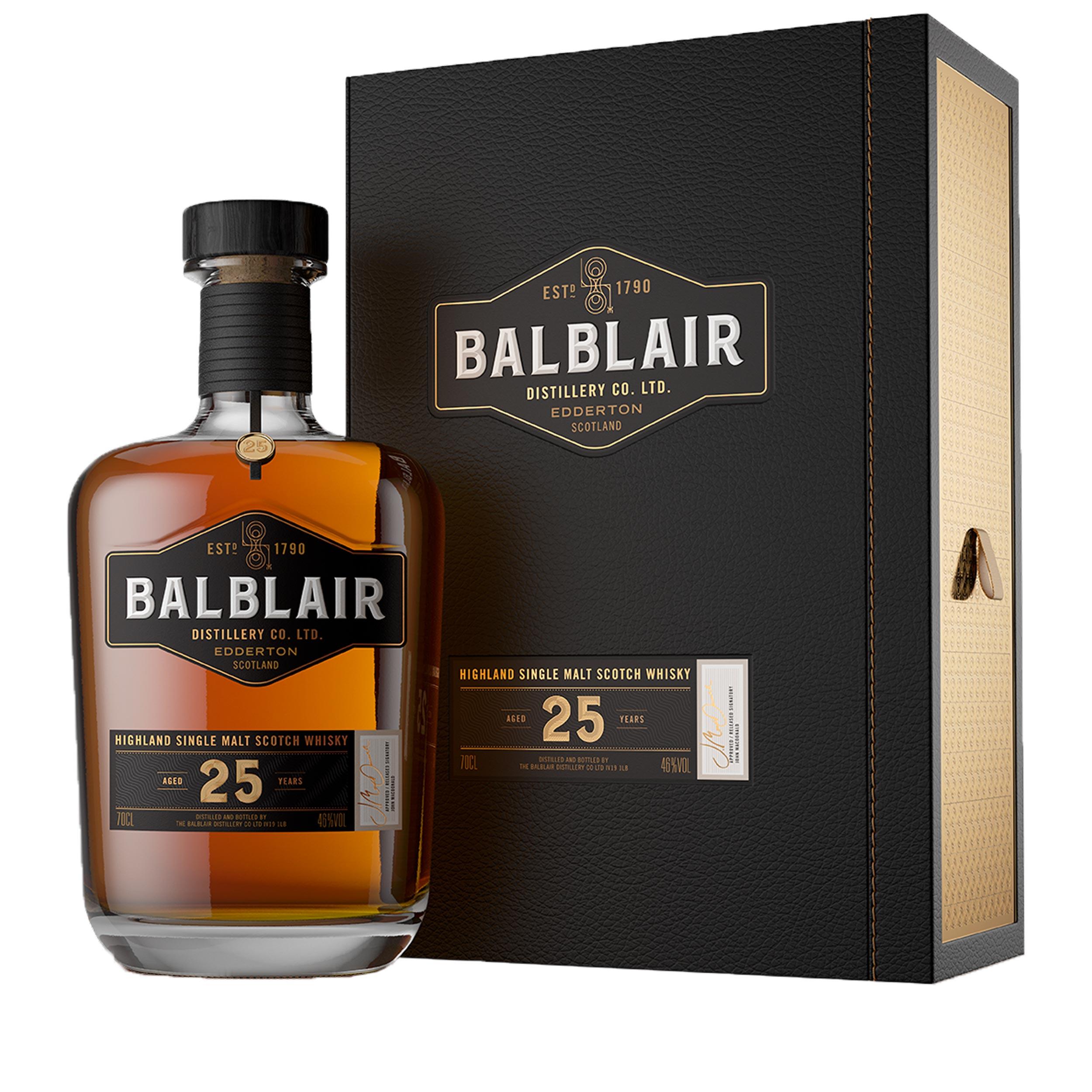 Balblair 25 Year Old Highland Single Malt Scotch Whisky 70cl