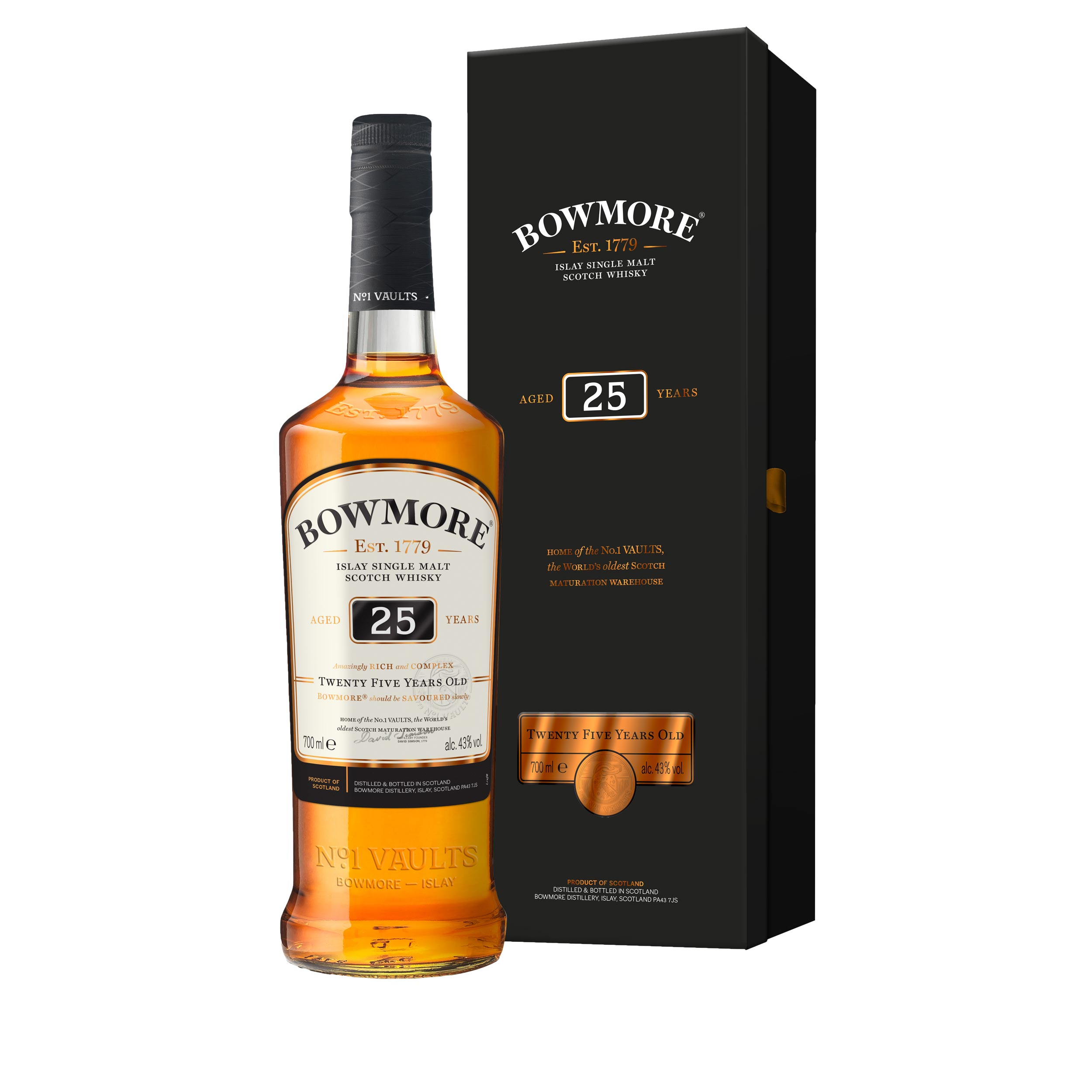 Bowmore 25 Year Old Islay Single Malt Scotch Whisky 70cl