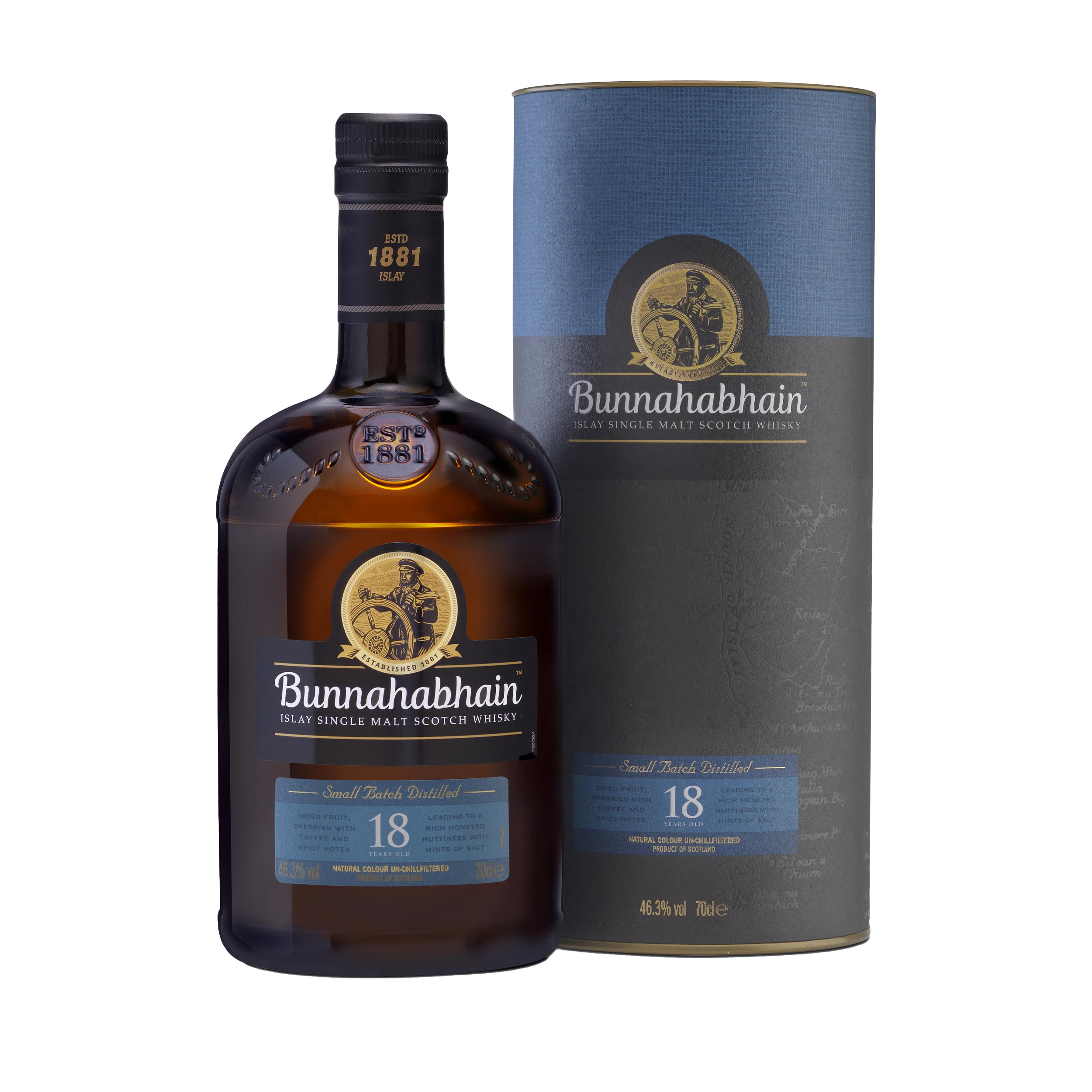 Bunnahabhain 18 Year Old Islay Single Malt Scotch Whisky 70cl