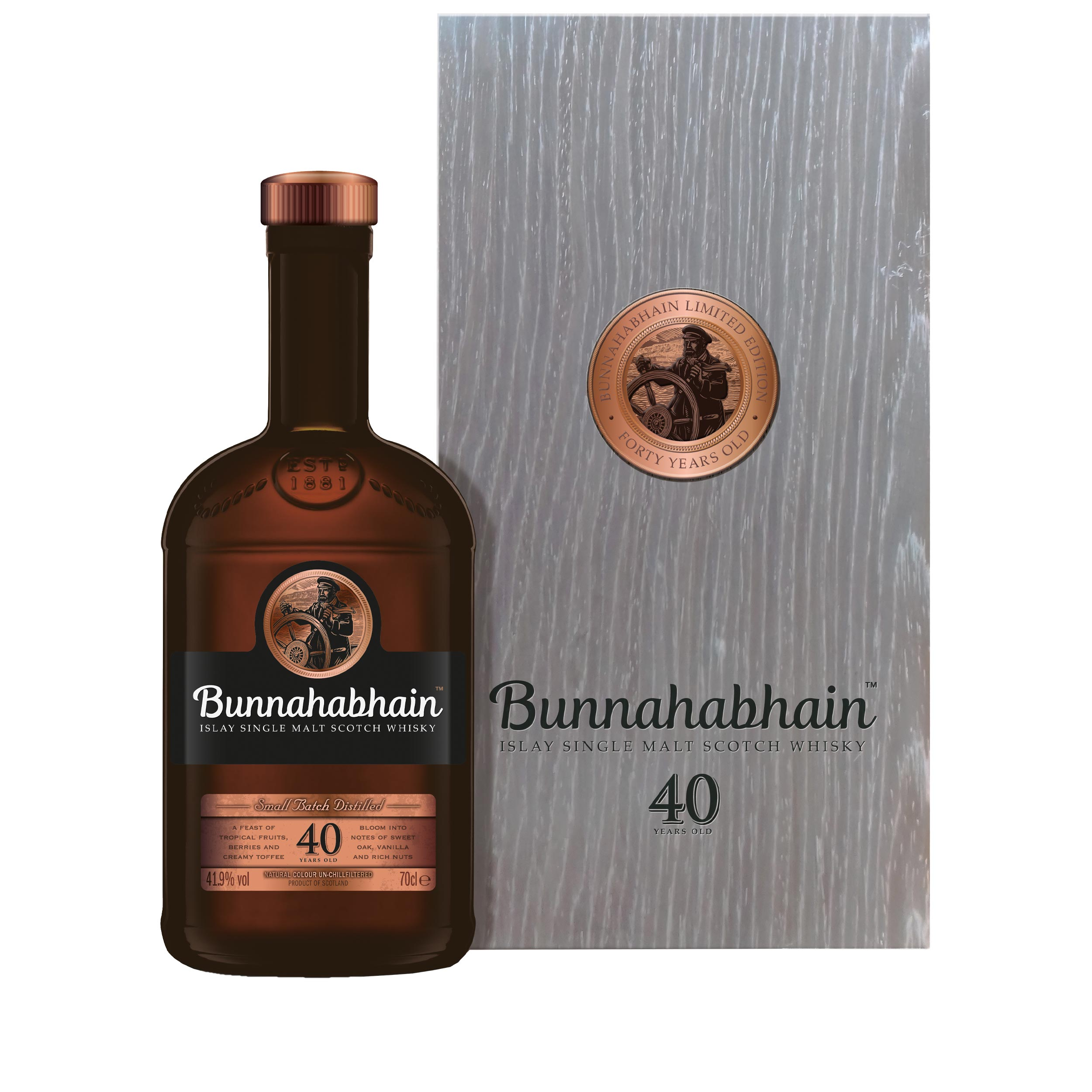 Bunnahabhain 40 Year Old Limited Edition Islay Single Malt Scotch Whisky 70cl