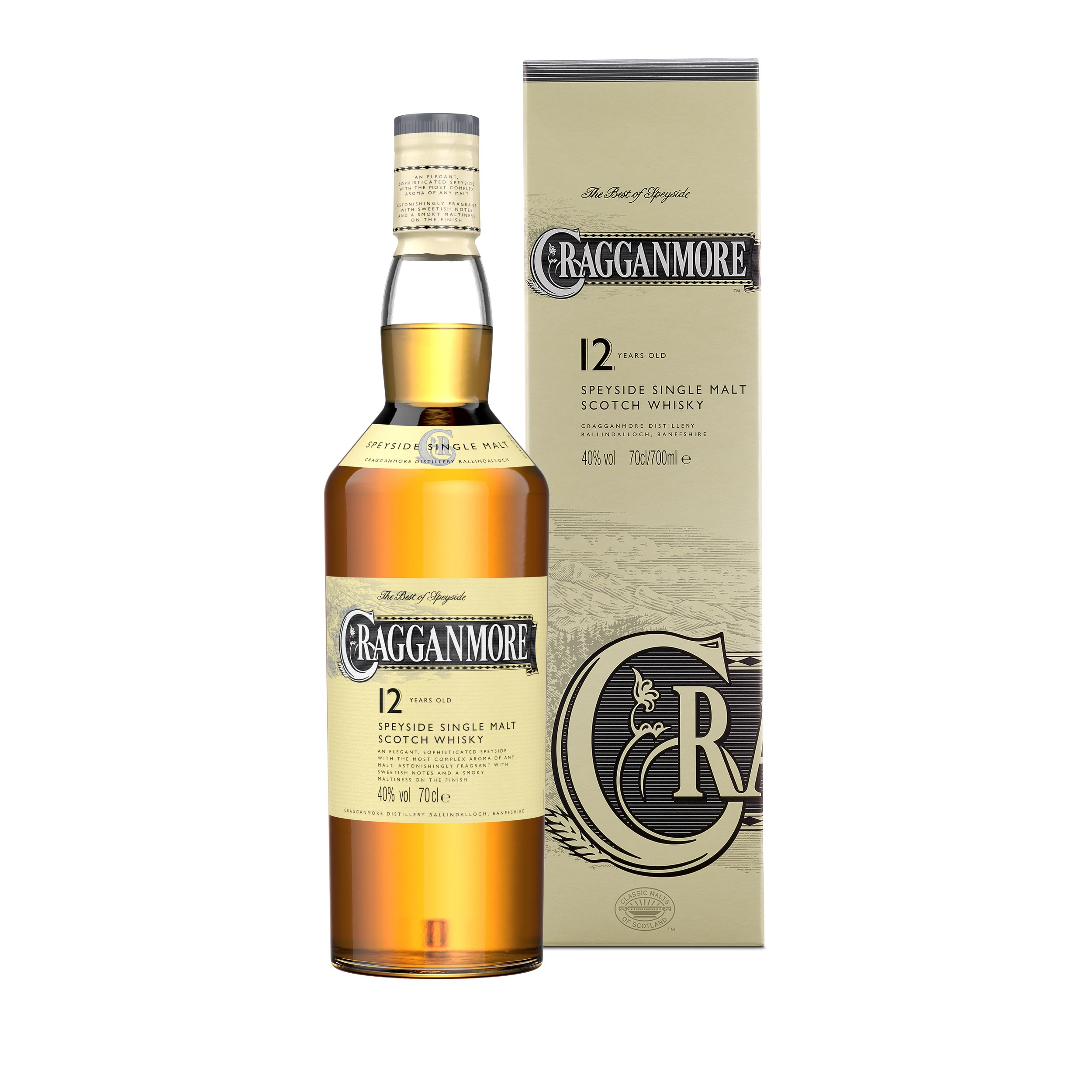 Cragganmore 12 Year Old Speyside Single Malt Scotch Whisky 70cl