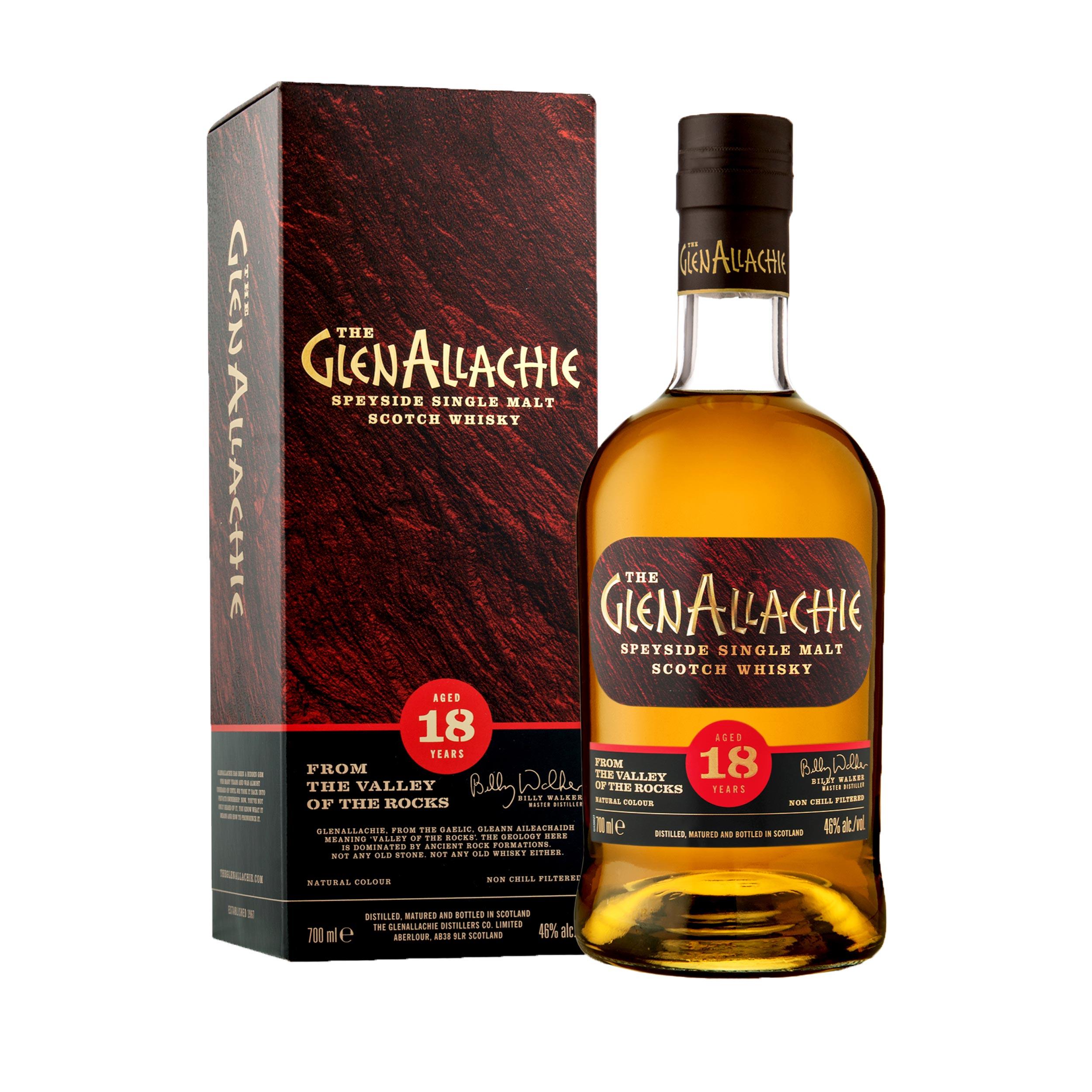 GlenAllachie 18 Year Old Speyside Single Malt Scotch Whisky 70cl