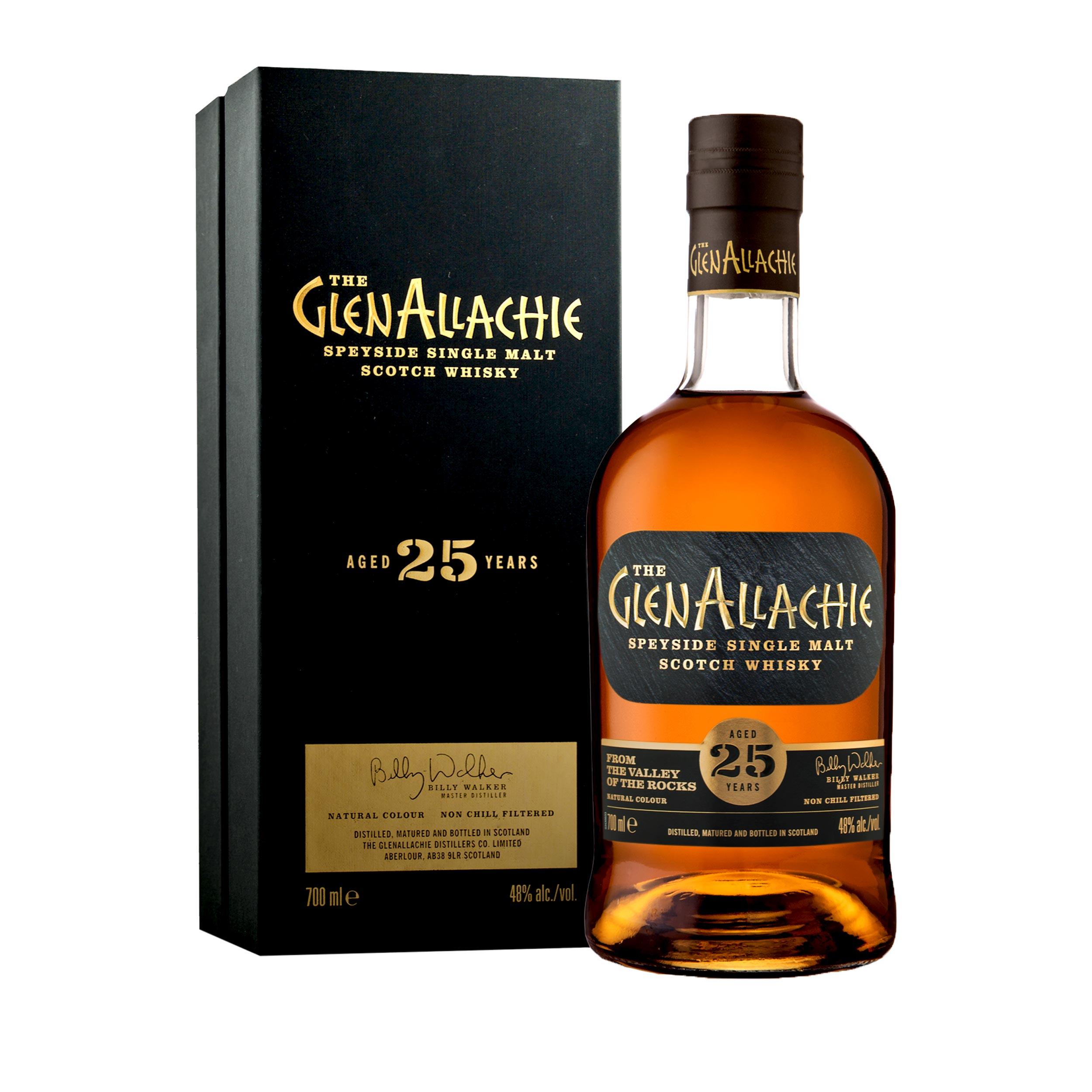GlenAllachie 25 Year Old Limited Edition Speyside Single Malt Scotch Whisky 70cl