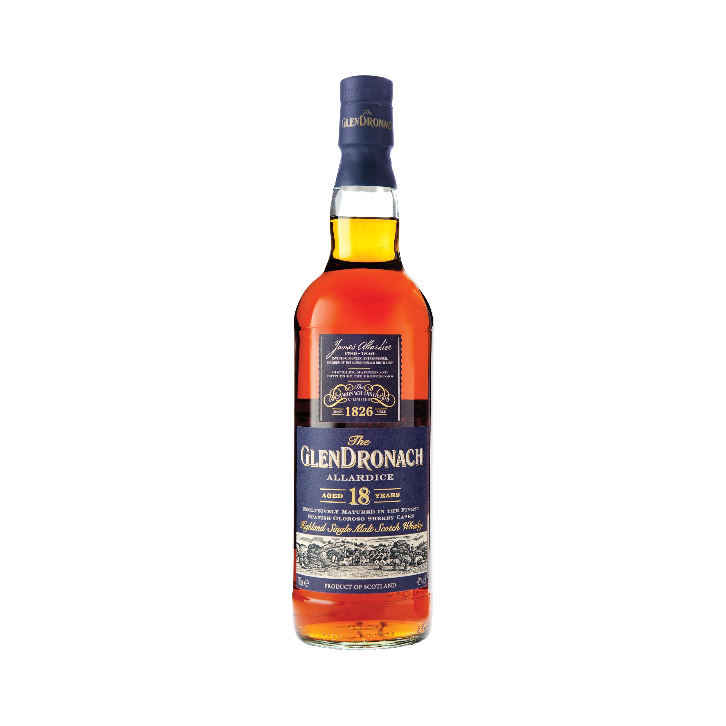 GlenDronach 18 Year Old  Speyside Single Malt Scotch Whisky 70cl