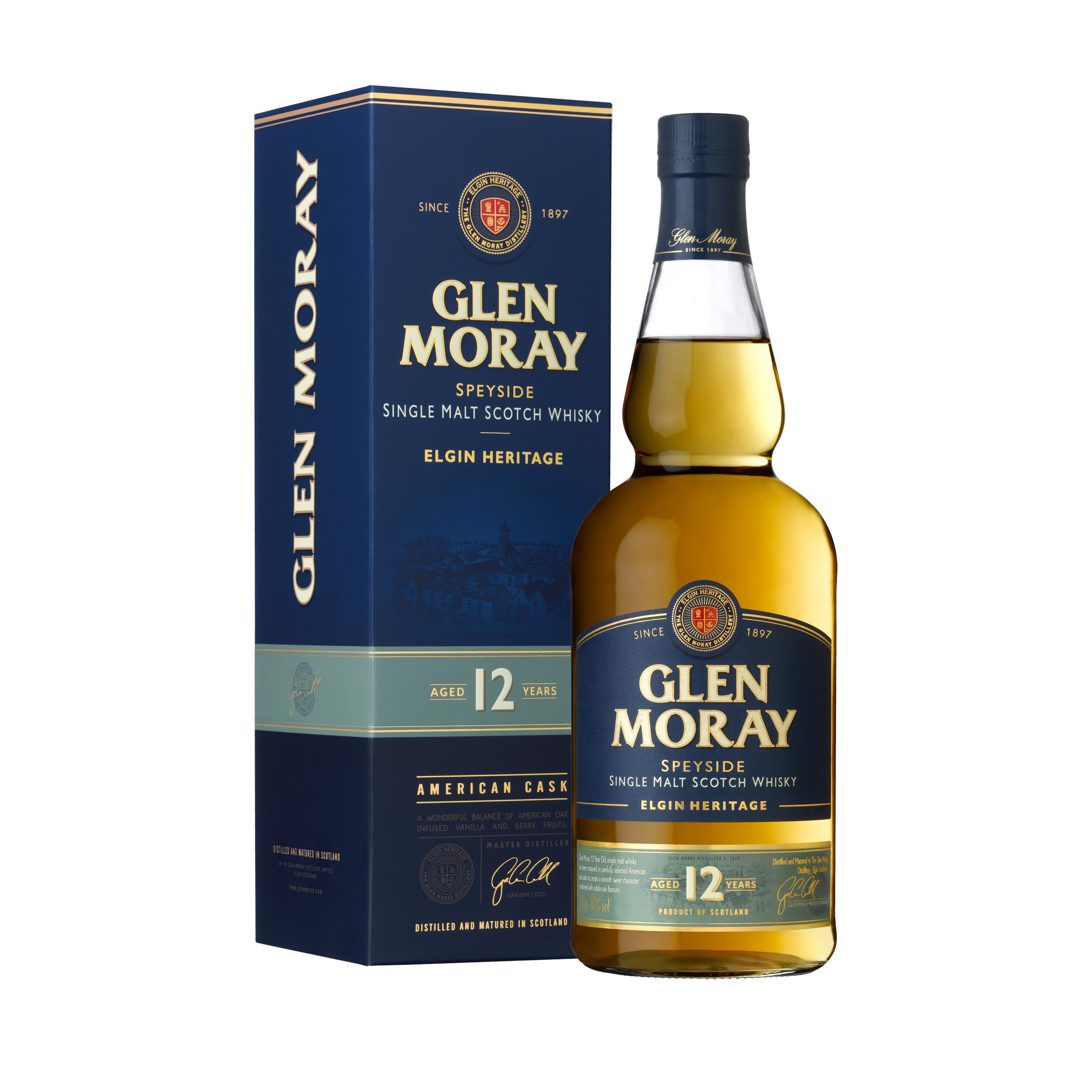 Glen Moray 12 Year Old Speyside Single Malt Scotch Whisky 70cl