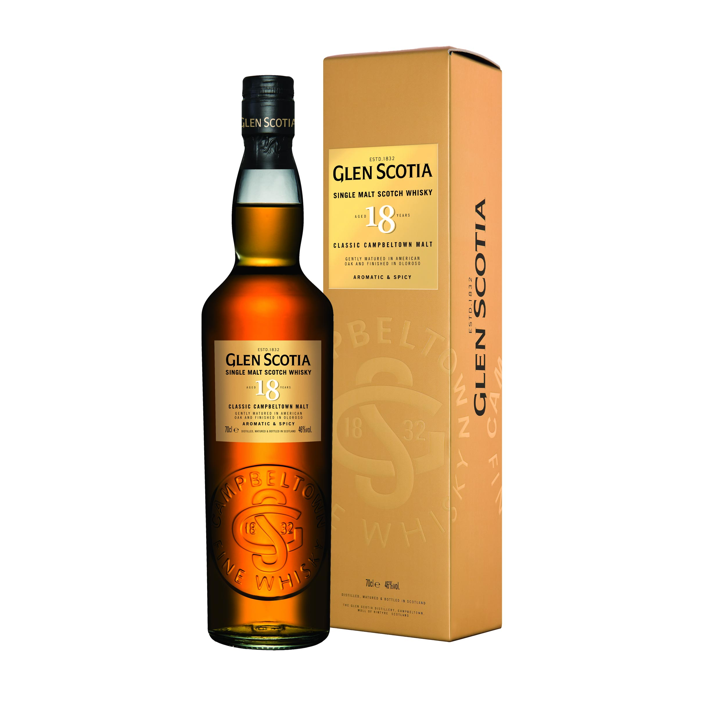 Glen Scotia 18 Year Old Campbeltown Single Malt Scotch Whisky 70cl