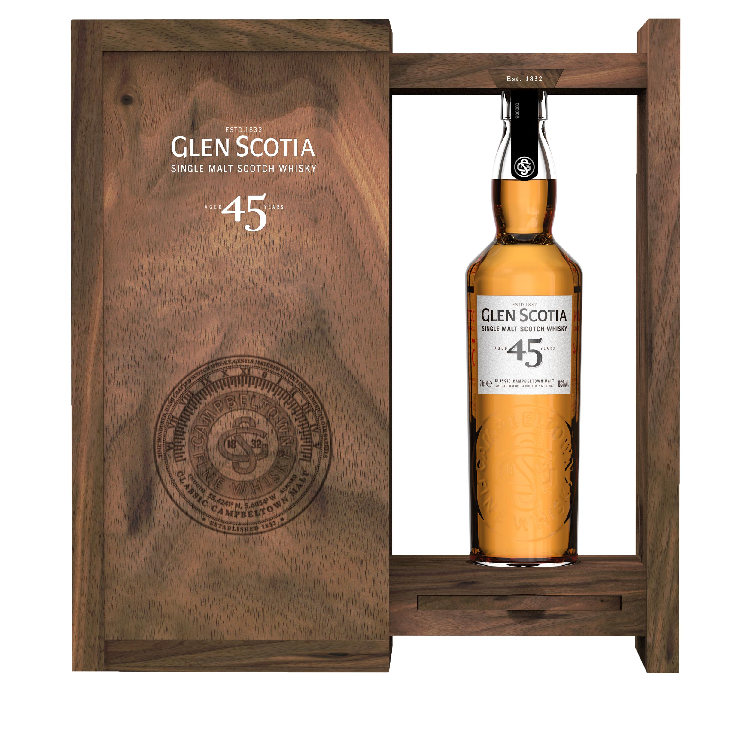 Glen Scotia 45 Year Old Limited Edition Campbeltown Single Malt Scotch Whisky 70cl