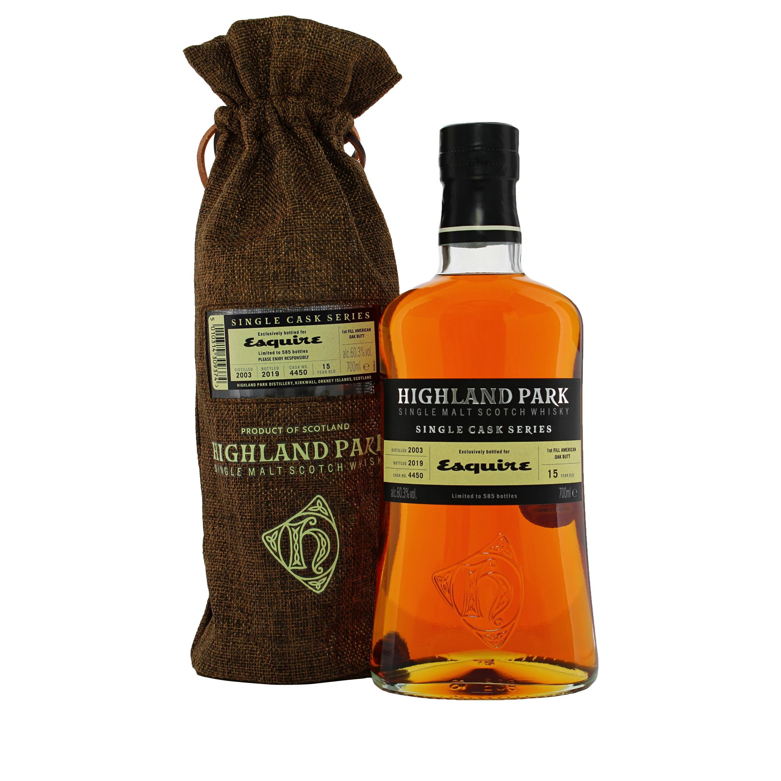 Highland Park Esquire Exclusive Single Cask Highland Single Malt Scotch Whisky 70cl