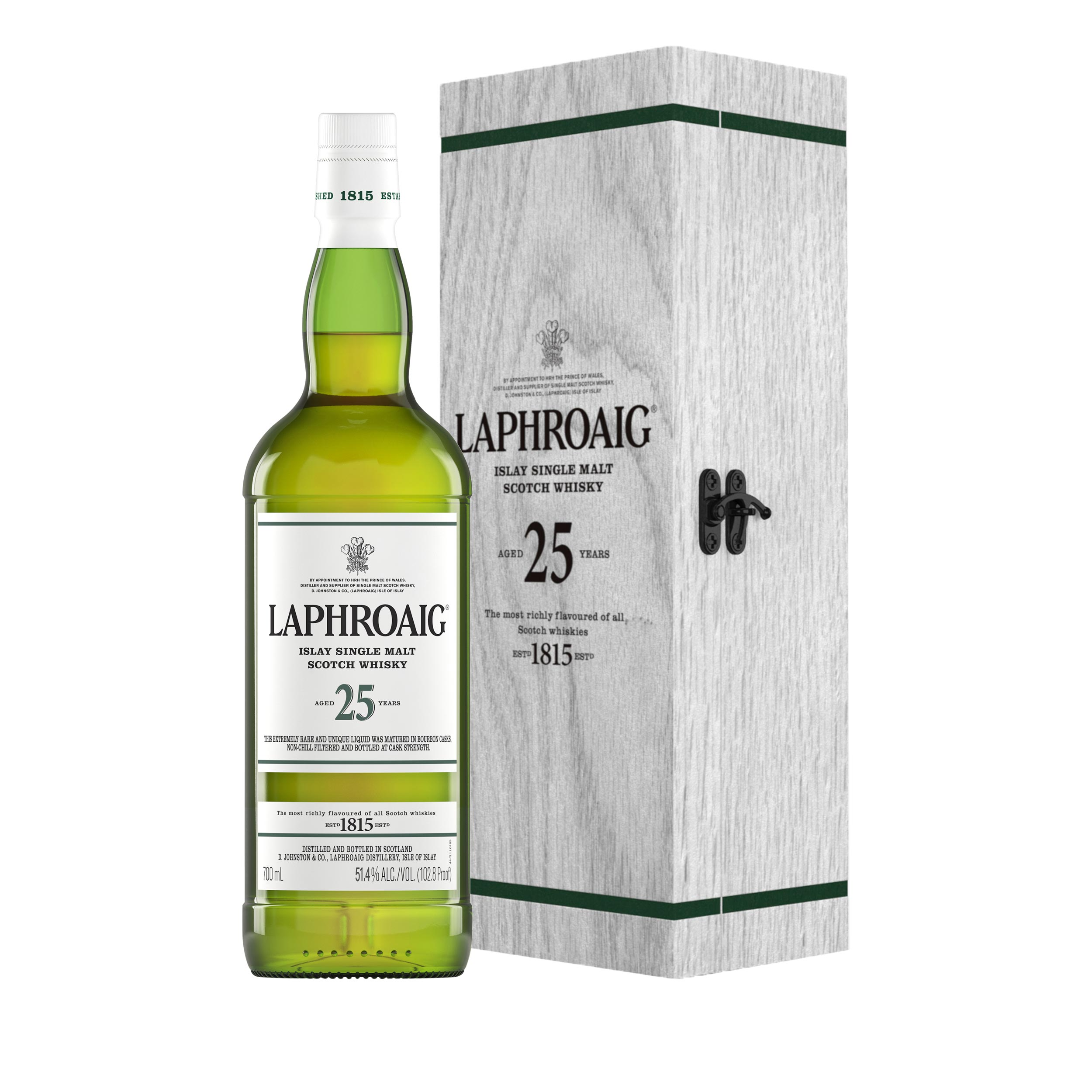 Laphroaig 25 Year Old Cask Strength Islay Single Malt Scotch Whisky 70cl