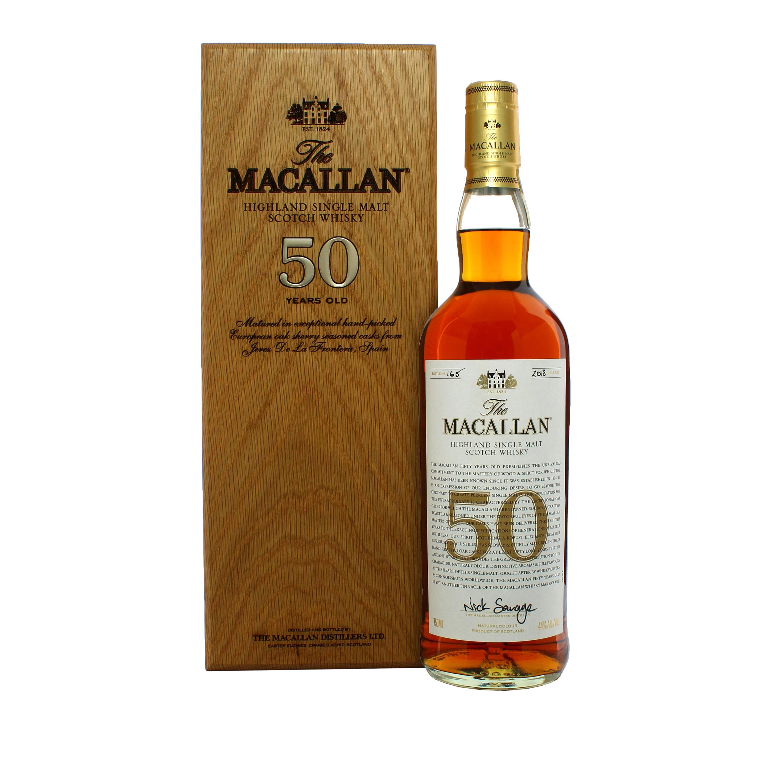 Macallan 50 Year Old Limited Edition Speyside Single Malt Scotch Whisky 75cl