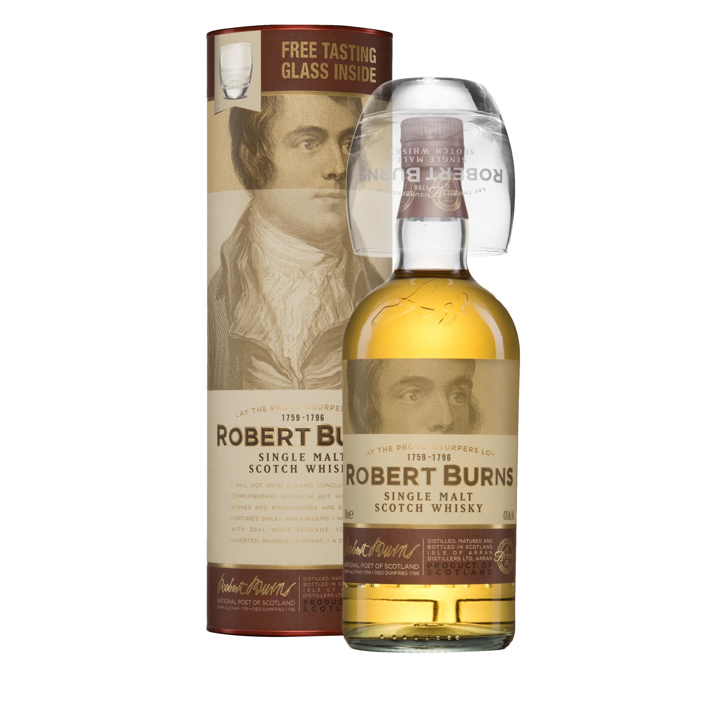 Robert Burns Malt Gift Pack Island Single Malt Scotch Whisky 70cl