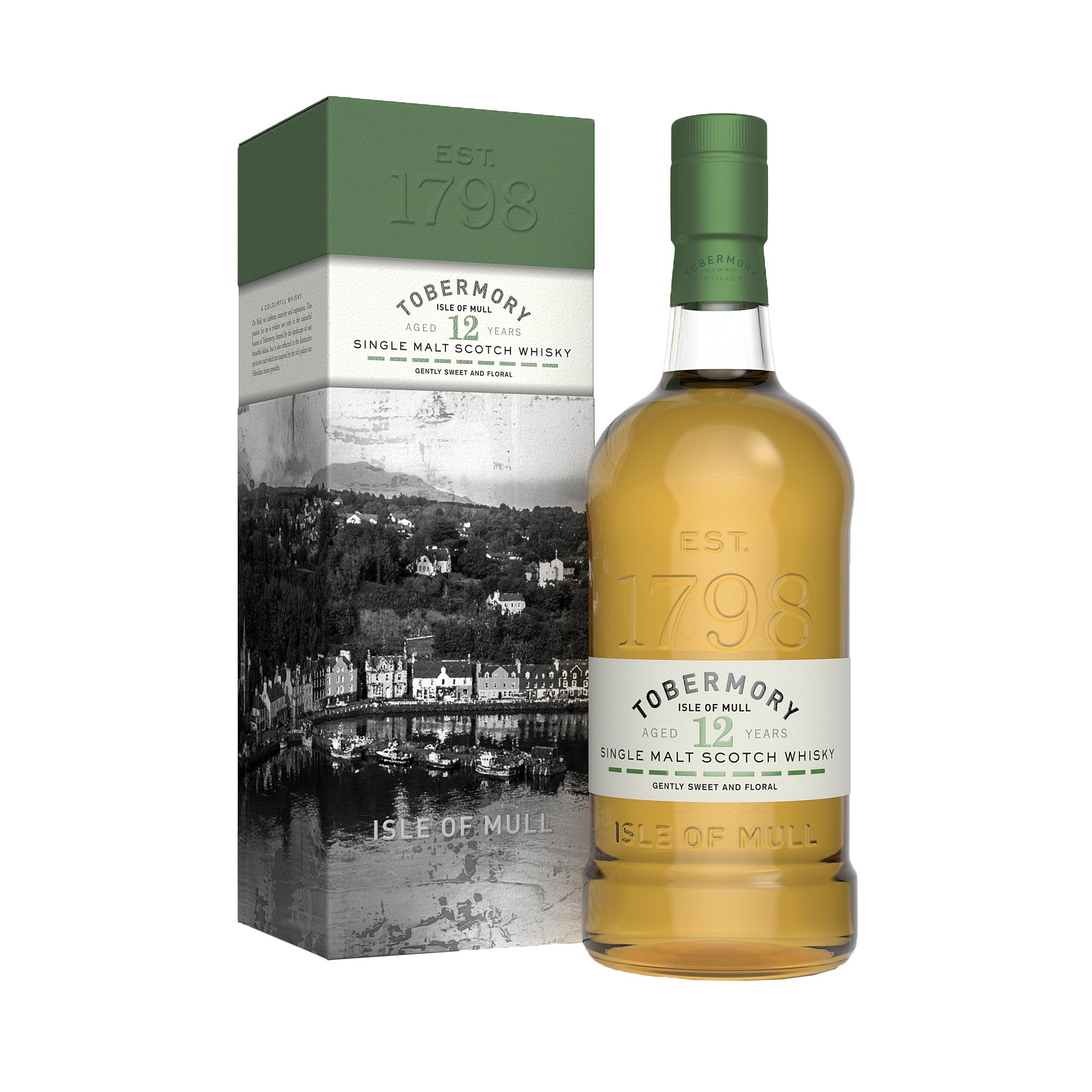 Tobermory 12 Year Old Island Single Malt Scotch Whisky 70cl